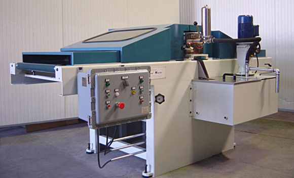 СТАНКИ ДЛЯ НАНЕСЕНИЯ ПОКРЫТИЯ CORTIN COATER Cortain coater machine at inclined belts for electronic parts or other materials